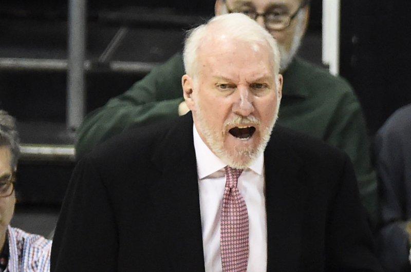 San Antonio Spurs head coach Gregg Popovich. Photo by David Tulis/UPI