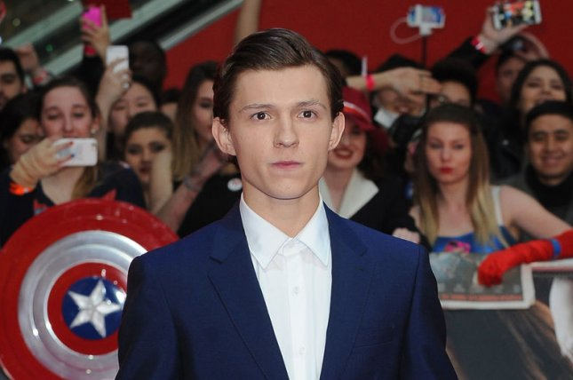 Tom Holland attends the U.K. premiere of Captain America: Civil War on April 26, 2016. Holland stars as Spider-Man in the first trailer for Spider-Man: Homecoming which also features Robert Downey Jr. as Tony Stark/Iron Man and Michael Keaton as the evil Vulture. File Photo by Paul Treadway/ UPI
