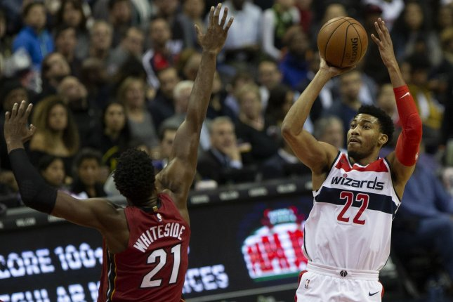 Washington Wizards forward Otto Porter Jr. (22) will be traded to the Chicago Bulls after the teams agreed to a trade Wednesday. File photo by Alex Edelman/UPI