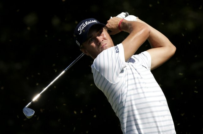 Justin Thomas (pictured) shot a 5-under 65 to sit one stroke ahead of Patrick Reed, Thomas Pieters and Matthew Wolff. File Photo by John Angelillo/UPI