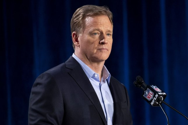 Commissioner Roger Goodell and the NFL notified teams that the 2021 scouting combine will not occur this year in Indianapolis due to COVID-19. File Photo by Kevin Dietsch/UPI