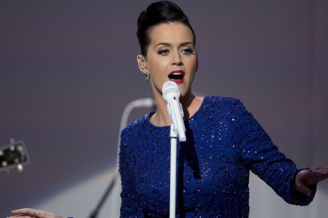 Singer Katy Perry performs during a concert to mark the anniversary of the Special Olympics in the State Dining Room of the White House in Washington, D.C. on Thursday, July 31, 2014. (File/UPI/Andrew Harrer/Pool)