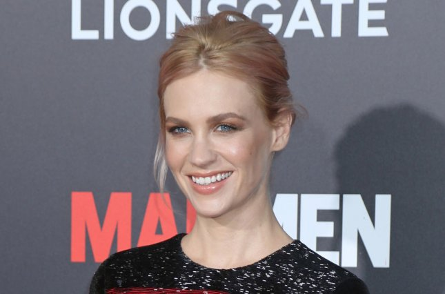 January Jones at the 'Mad Men' premiere Black & Red Ball on March 25, 2015. File photo by David Silpa/UPI
