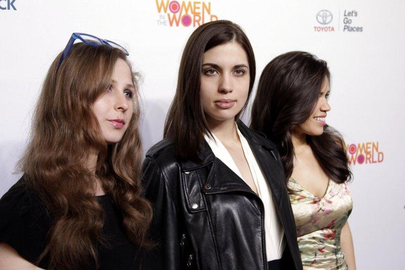 Pussy Riot. Photo by John Angelillo/UPI