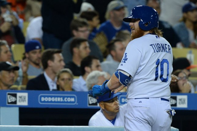 Los Angeles Dodgers' Justin Turner. Photo by Jim Ruymen/UPI