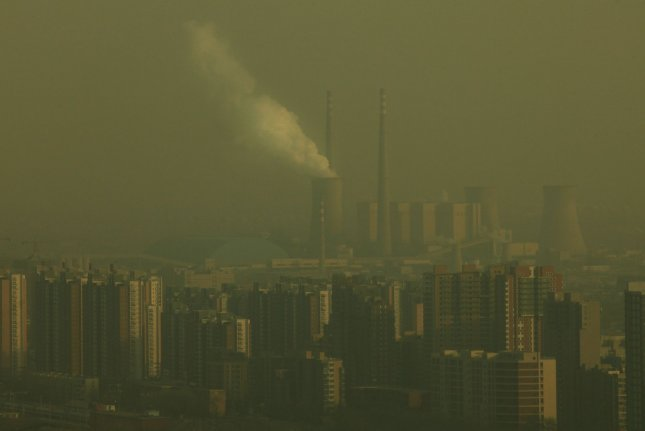 A study in the journal Nature Climate Change says there may be irregularities in official Chinese data on coal consumption and carbon emissions. File photo by Stephen Shaver/UPI