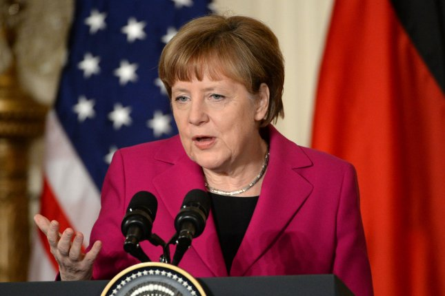 German Chancellor Angela Merkel has responded forcibly to remarks made by Turkey's President Erdogan. File Photo by Pat Benic/UPI