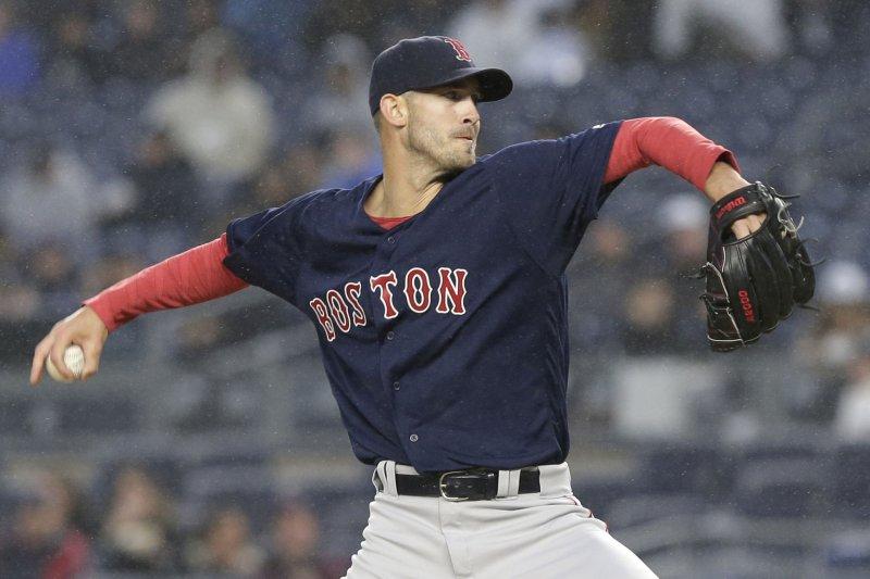 Boston Red Sox starting pitcher Rick Porcello. Photo by John Angelillo/UPI