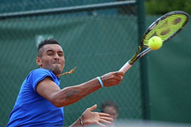 Nick Kyrgios of Australia beat American Sam Querrey to advance to lead Australia into the semifinals of the Davis Cup. File photo by David Silpa/UPI