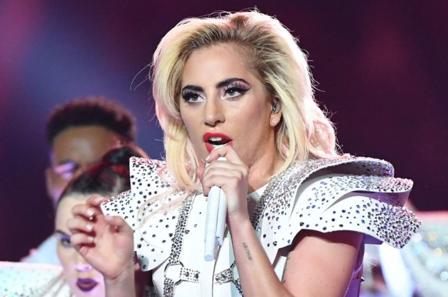 Lady Gaga performs during the halftime show at Super Bowl LI on February 5. Lady Gaga will appear for a deposition and supply text messages for Dr. Luke's lawsuit against Kesha. File Photo by Kevin Dietsch/UPI