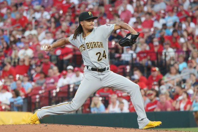 Pittsburgh Pirates starting pitcher Chris Archer posted a 5.19 ERA and 3-9 record in 23 starts last season. File Photo by Bill Greenblatt/UPI
