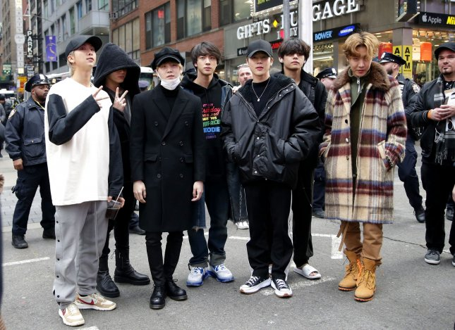 K-pop band BTS is set to headline this year's Global Citizen concert. File Photo by John Angelillo/UPI