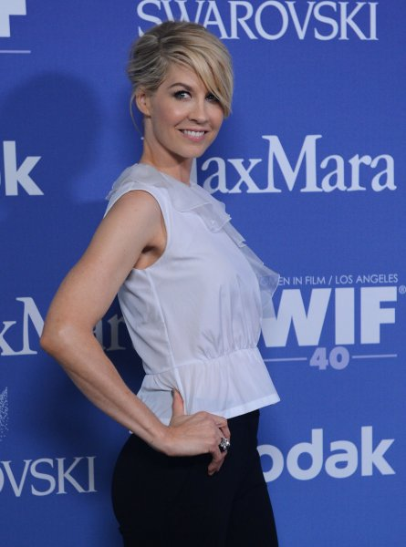Actress Jenna Elfman arrives for the Women In Film Crystal + Lucy Awards at the the Beverly Hilton Hotel in Beverly Hills, California on June 12, 2013. UPI/Jim Ruymen