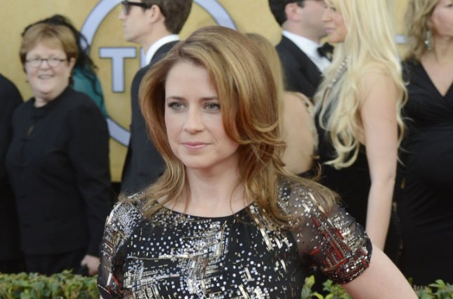 Jenna Fischer arrives for the 19th Annual SAG Awards on January 27, 2013. Fischer tweeted a photo of a fan's toddler son who dressed up as The Office character Dwight Schrute for Halloween. File Photo by Phil McCarten/UPI