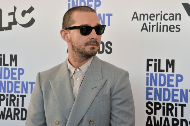 Shia LaBeouf attends the 35th annual Film Independent Spirit Awards in Santa Monica, Calif., on February 8. He's being sued for sexual battery, assault and infliction of emotional distress. File Photo Jim Ruymen/UPI