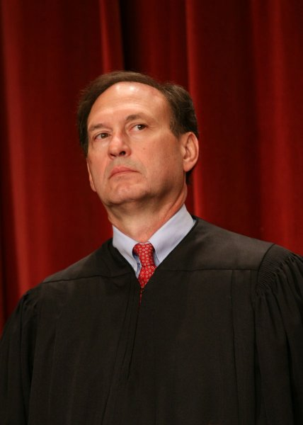 Samuel Alito is seen after the Supreme Court Justices of the United States posed for their official family group photo and then allowed members of the media to take photos afterward on September 29, 2009, at the Supreme Court in Washington. UPI/Gary Fabiano/POOL