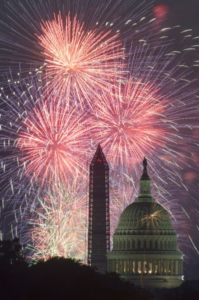 Each New Year's Eve,consumers are injured by mixing alcohol, fireworks. The annual Independence Day firework display lights up the sky over the U.S. Capitol Building and the Washington Monument in Washington, DC. UPI/Kevin Dietsch