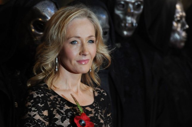 J.K. Rowling attends the world premiere of Harry Potter And The Deathly Hallows on November 11, 2010. File Photo by Rune Hellestad/UPI