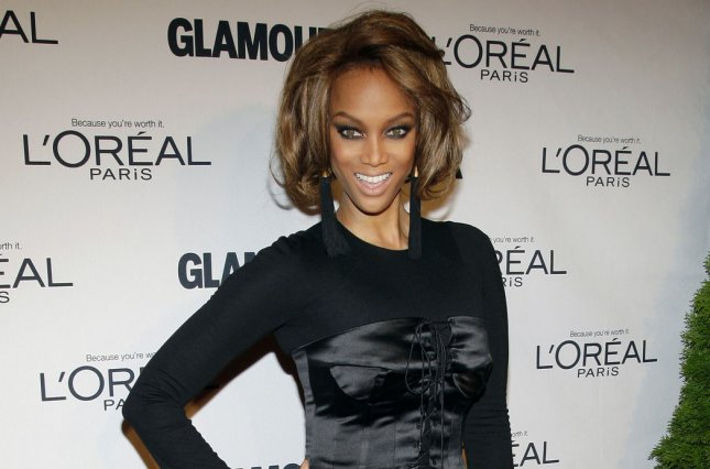 Model Tyra Banks, seen here in 2012, announced the arrival of her miracle baby Wednesday. The baby was born via a surrogate. File Photo by John Angelillo/UPI