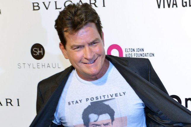 Charlie Sheen arrives at the Elton John Aids Foundation's 24th Annual Academy Awards viewing party in West Hollywood on February 28. He stars in Mad Families with Leah Remini. File Photo by Christine Chew/UPI
