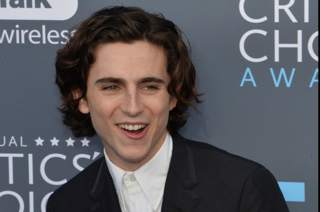 Timothée Chalamet vowed to give his pay from A Rainy Day in New York to three charities. File Photo by Jim Ruymen/UPI