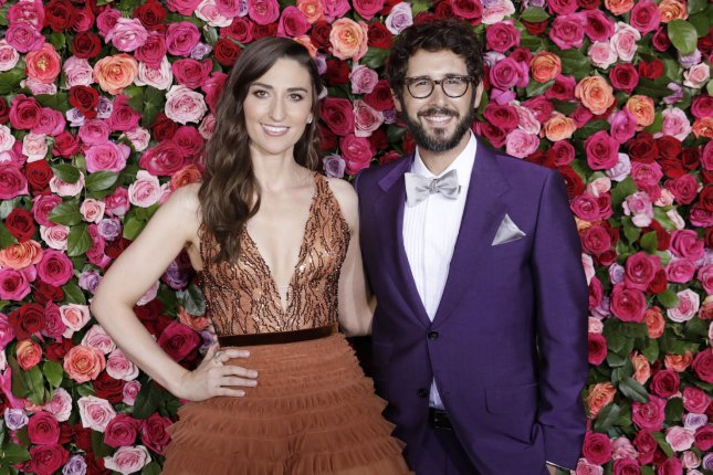 Sara Bareilles and Josh Groban arrives on the red carpet at the 72nd Annual Tony Awards at Radio City Music Hall on Sunday in New York City. Photo by Serena Xu-Ning/UPI