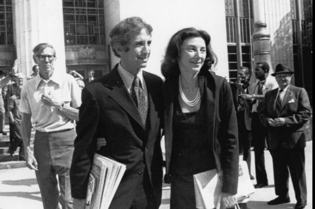 Daniel Ellsberg, pictured here with his wife Patricia in this UPI file photo, was responsible for leaking the Pentagon Papers to the press. The Pentagon Papers revealed serious issues with the administering of the Vietnam War by various administrations. President Richard Nixon tried to suppress the report, but the Supreme Court ruled in favor of the press. UPI/files