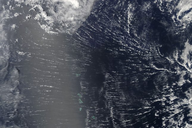 Researchers used satellite images to model the influence of surface and near-surface ocean temperature differences on carbon flux. Photo by NASA/UPI