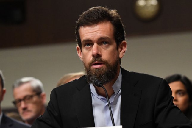 Twitter CEO Jack Dorsey has sold the first-ever tweet as an NFT for more than $2.9 million. File Photo by Pat Benic/UPI