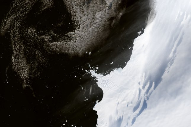 Glacial retreat and ice loss are happening at accelerate rates in West Antarctica, new research shows. Photo by NASA/UPI
