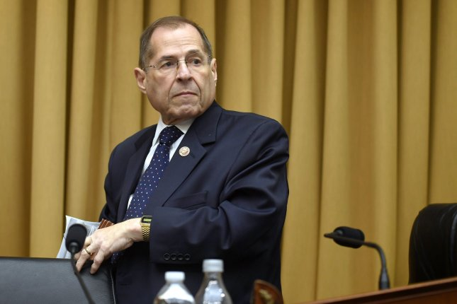 House judiciary committee Chairman Jerry Nadler said Monday that the House has its hands full with impeaching the president and won't immediately open an investigation into allegations of sexual misconduct against Supreme Court Justice Brett Kavanaugh.  Photo by Mike Theiler/UPI