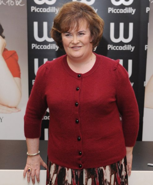 British singer Susan Boyle attends a signing of her autobiography The Woman I Was Born To Be at Waterstone's, Piccadilly in London on October 16, 2010. UPI/Rune Hellestad