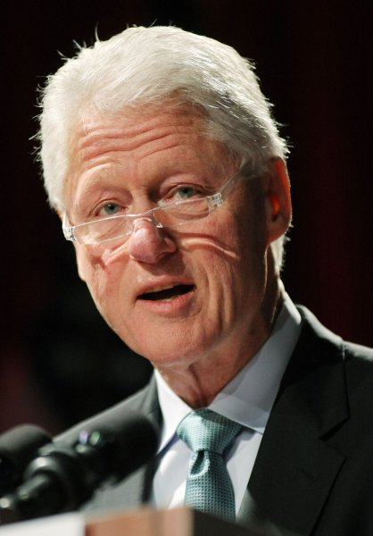 Former President Bill Clinton, founder of the William J. Clinton Foundation, speaks during the America at a Crossroads: The Dayton Accords and the Beginning of 21st Century Diplomacy conference held at New York University on February 9, 2011 in New York City. The Dayton Accords were signed in 1995 as a framework for peace and stability in the former Yugoslavia. UPI /Monika Graff