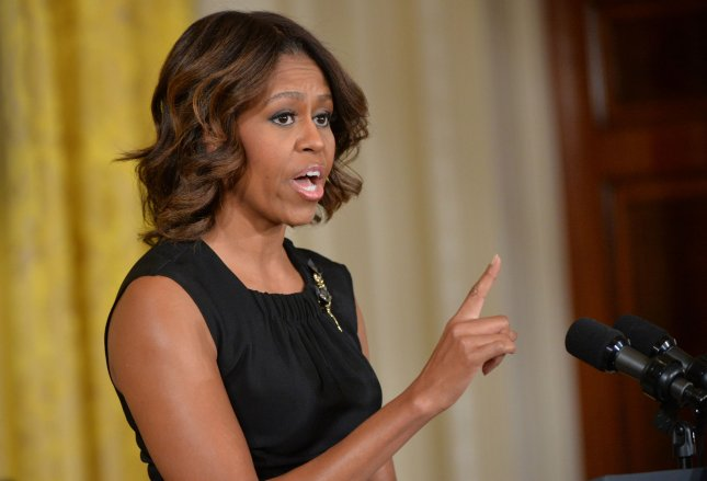 First Lady Michelle Obama speaks at an event to announce The Mayors Challenge to End Veteran Homelessness, as part of the Joining Forces initiative, at the White House in Washington, D.C. on June 4, 2014. UPI/Kevin Dietsch