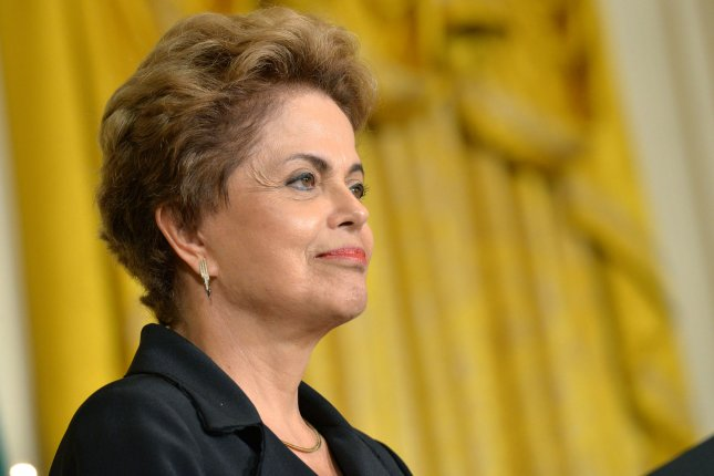 Brazil announced several austerity measures on Monday. Pictured: President Dilma Rousseff of Brazil speaks during a joint press conference with President Barack Obama in the East Room at the White House in Washington, D.C. on June 30, 2015. File Photo by Kevin Dietsch/UPI.