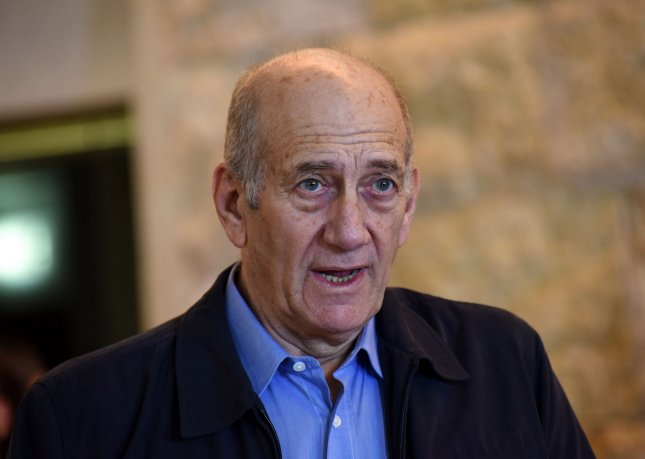 Former Israeli Prime Minister Ehud Olmert began a 19-month prison sentence Monday after conviction on bribery and obstruction of justice charges. File Photo by Debbie Hill/ UPI