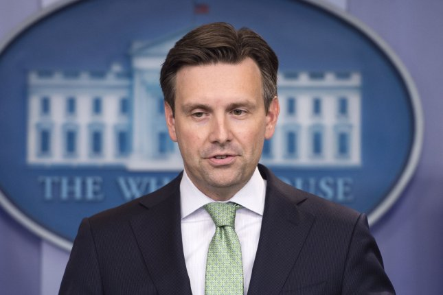 White House Press Secretary Josh Earnest says there's no change in the federal position on hydraulic fracturing after weekend earthquake in Oklahoma. Photo by Kevin Dietsch/UPI