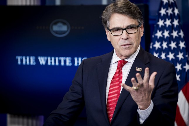 U.S. Secretary of Energy Rick Perry is expected to meet his Russian counterpart, Alexander Novak, at a global gas conference this week in Washington D.C. File Photo by Pete Marovich/UPI