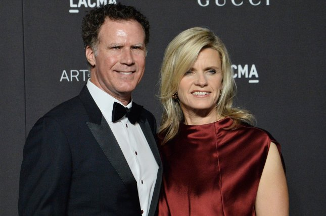 Actor Will Ferrell (L) and his wife Viveca Paulin. The actor played Spill Your Guts or Fill Your Guts with Late Late Show host James Corden. File Photo by Jim Ruymen/UPI