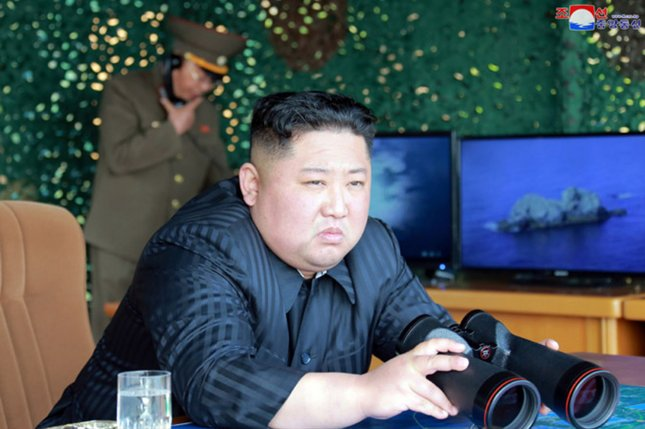 North Korea launched two short-range ballistic missiles from the Hodo peninsula in South Hamgyong province on the country's east coast, the JCS said. File Photo by KCNA/UPI