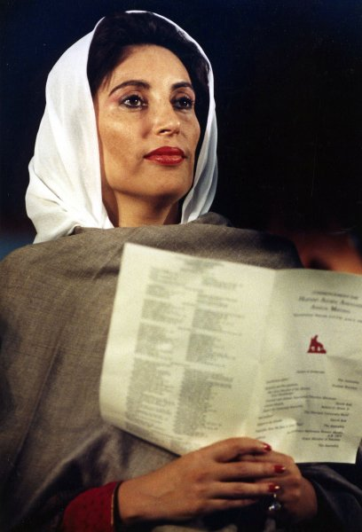 On November 16, 1988, Pakistanis voted Benazir Bhutto as prime minister, the nation's first female leader in modern history. UPI File Photo