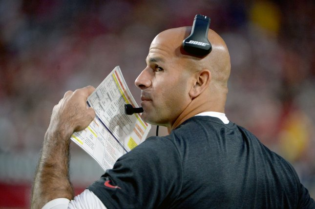 Robert Saleh has spent the past four seasons as the San Francisco 49ers' defensive coordinator. File Photo by Art Foxall/UPI