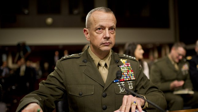 Marine Corps Gen. John Allen, NATO's supreme allied commander for Europe, testifies on the situation in Afghanistan during a Senate Armed Services Committee hearing on Capitol Hill in Washington, D.C. on March 22, 2012. UPI/Kevin Dietsch