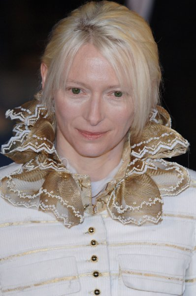 British actress Tilda Swinton attends the world premiere of The chronicles of Narnia:the lion,the witch and the wardrobe at Royal Albert Hall in London on December 7, 2005.(UPI Photo/Rune Hellestad)