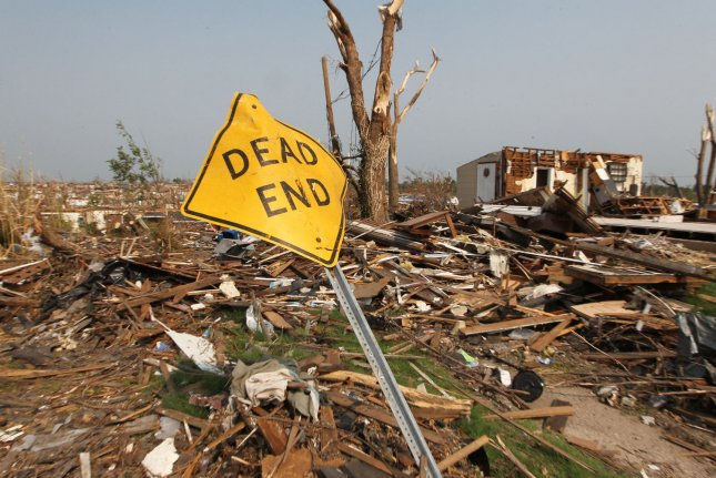 Two weeks after a devastating tornado destroyed thousands of homes and businesses and killed 145 people, neighborhoods remain in ruins in Joplin, Missouri on June 8, 2011. UPI/Bill Greenblatt