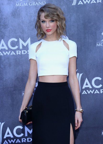 Musician Taylor Swift attends the 49th annual Academy of Country Music Awards held at the MGM Grand Arena in Las Vegas, Nevada on April 6, 2014. The show will be broadcast live on CBS. UPI/Jim Ruymen