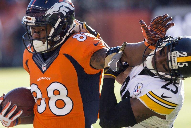 Denver Broncos wide receiver Demaryius Thomas (88). File photo by Gary C. Caskey/UPI