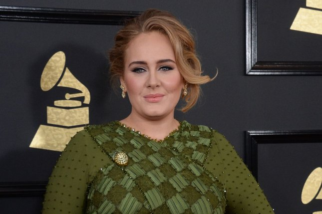 Singer Adele arrives for the 59th annual Grammy Awards held at Staples Center in Los Angeles on February 12, 2017. Photo by Jim Ruymen/UPI