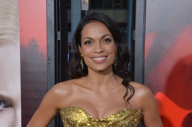 Rosario Dawson attends the premiere of Unforgettable on April 18. Dawson may potentially star in upcoming X-Men spinoff New Mutants. File Photo by Jim Ruymen/UPI