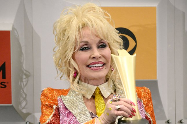 Dolly Parton attends the Academy of Country Music Awards on April 3, 2016. The singer confirmed Tuesday that she will release the album I Believe in You to benefit her Imagination Library charity. File Photo by Jim Ruymen/UPI